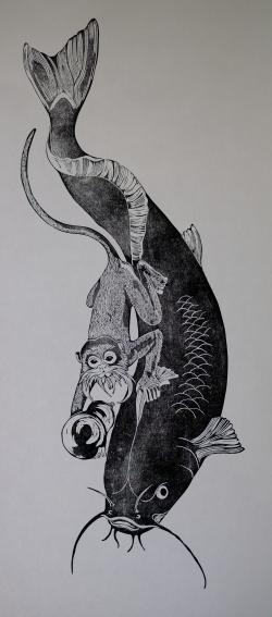 Monkey fish calico