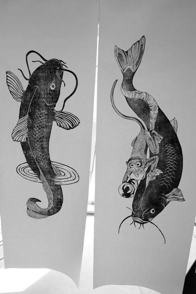 pair prints on paper